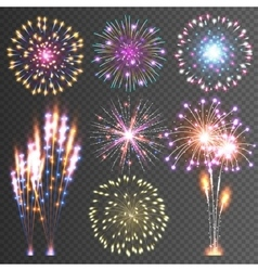 Festive Firework Abstract Pictograms vector image