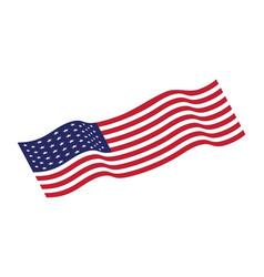 flag american icon vector image