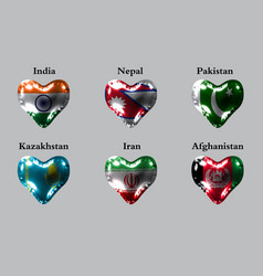 flags of the asian countries the flags of india vector image