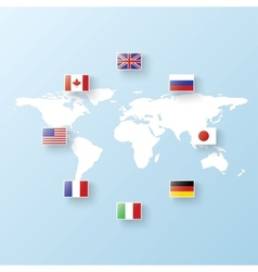 flags states vector image