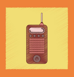 flat shading style icon old cell phone vector image