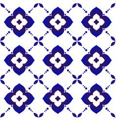 flower indigo pattern vector image