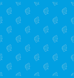 football pattern seamless blue vector image