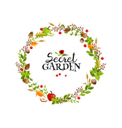 garden wreath vector image