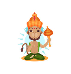 hanuman indian god leader of the army of monkeys vector image