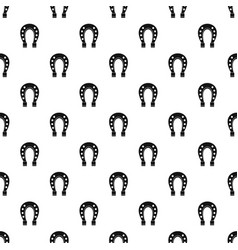 Horse shoe pattern vector
