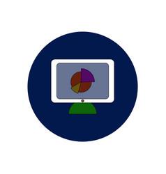 In flat design of business pie vector