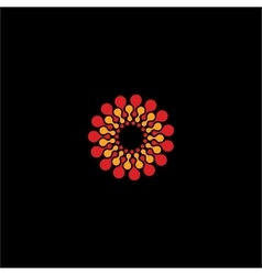Isolated abstract red and yellow flower vector