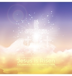 Jesus is risen Easter with vector image