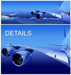 Jet cruising in sky vector