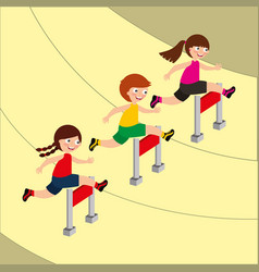 Kids sport activity image vector