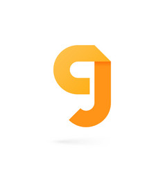 letter g logo on white alphabet background vector image