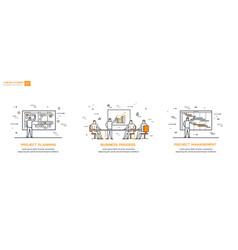 linear set 01 business processes vector image