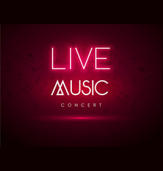 live music background party poster live vector image