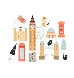 London abstract design with big ben tower vector
