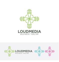 loud media logo design vector image