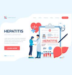 Medical diagnosis - hepatitis concept of vector