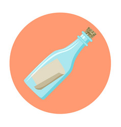 Message in a bottle icon vector