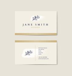 Minimal beige business card template vector