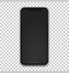 new black mobile template with empty screen vector image