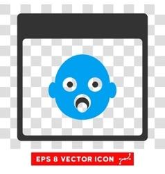 Newborn Head Calendar Page Eps Icon vector image