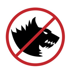 no dogs allowed dog prohibition sign vector image