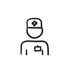 Nurse sketch icon vector
