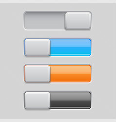 on and off toggle switch buttons colored 3d icons vector image