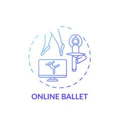 Online ballet concept icon vector