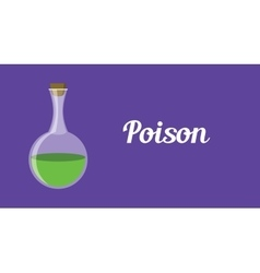 Poison concept with green bottle vector