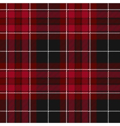 Pride of wales fabric texture red tartan seamless vector image