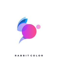 rabbit template vector image