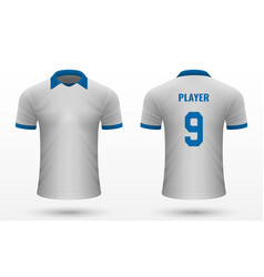 Realistic soccer shirt jersey vector