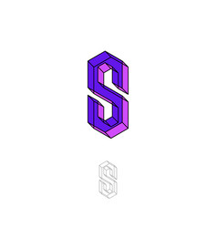 s letter crystal vector image