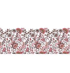 Seamless floral banner frame border vector