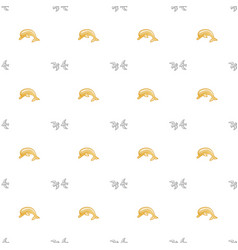 Seamless pattern with dolphins cute marine vector