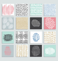Set 16 creative pastel cards vector