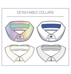 Set detachable collars vector