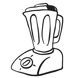 simple black and white blender vector image