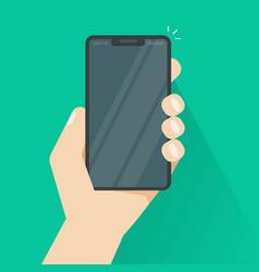 smartphone in hand flat vector image