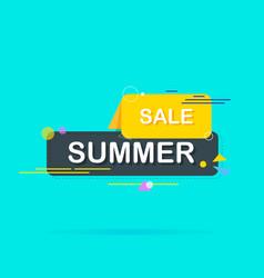 summer sale banner bright design idea for vector image