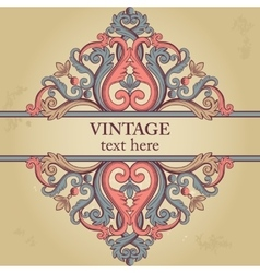 Template with ethnic vintage element vector image