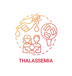 Thalassemia red gradient concept icon vector