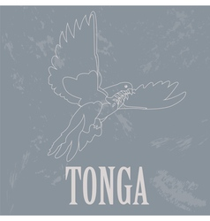 Tonga Dove Retro styled image vector
