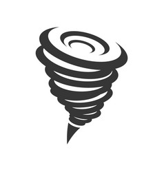 tornado hurricane icon vector image