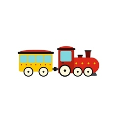 Train in amusement park icon vector