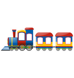 train with two bogies vector image