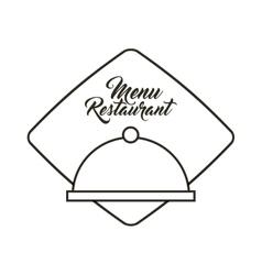 tray server restaurant menu vector image