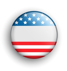 USA Icon Sign Presidents Independence Day Isolated vector
