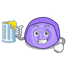 with juice blueberry roll cake mascot cartoon vector image